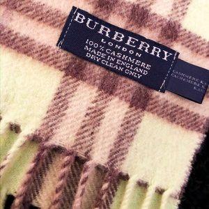 Light green Burberry Cashmere Scarf